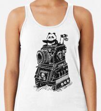 Panda's Skull Tank Vintage Style Racerback Tank Top