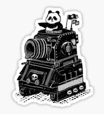 Panda's Skull Tank Vintage Style Sticker