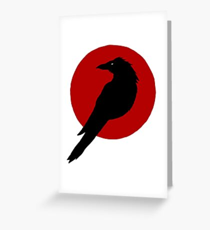 Cool Corbie Greeting Card