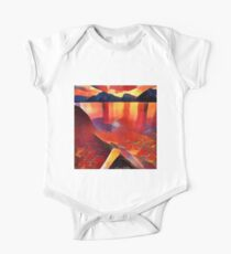 Abstract landscape in red Kids Clothes