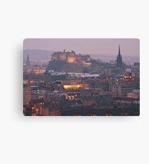 Edinburgh Castle at Dusk Canvas Print
