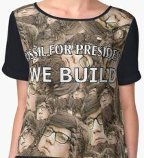 Bassil For President Women's Chiffon Top