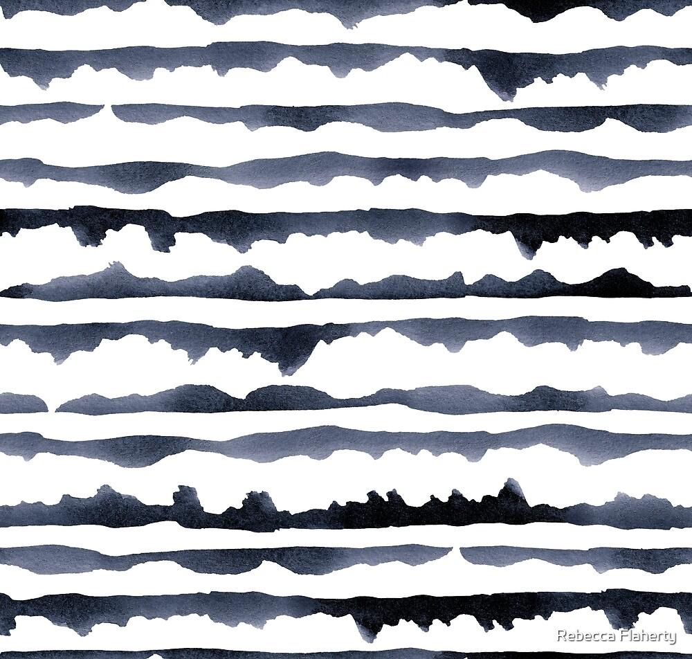 Watercolour Stripes by Rebecca Flaherty