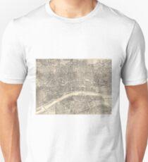 Vintage Map of Frankfurt Germany (1864) Unisex T-Shirt
