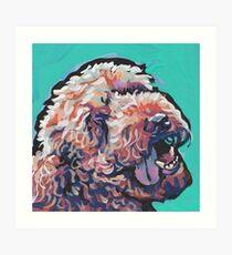 Poodle Labradoodle Golden Doodle Dog Bright colorful pop dog art Art Print