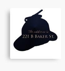 """Sherlocked"" 221 B Baker Street Canvas Print"