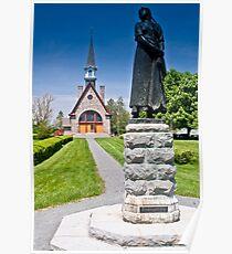 Church at Grand Pre, Nova Scotia Poster