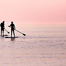 Paddle Boarders at Sunset by Erin Fitzgibbon
