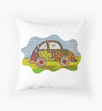 VW Punch Buggy Vroom Vroom Throw Pillow