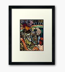 Toulouse Lautrec: At the Circus (Stained Glass) Framed Print