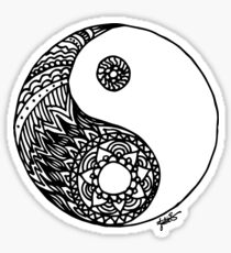 Tangled Yin Yang Sticker
