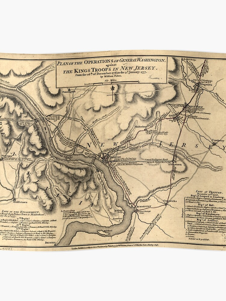 George Washington Trenton NJ Battlefield Map 1777 | Poster on map of mullica township nj, map of lawnside nj, map of farmington nj, map of cliffwood beach nj, map of stafford twp nj, map of pedricktown nj, map of west long branch nj, map of wood-ridge nj, map of hightstown nj, map of sea island nj, map of new jersey, map of cape may courthouse nj, map of haddon twp nj, map of normandy beach nj, map of lafayette nj, map of hudson nj, map of ewing township nj, map of leonardo nj, map of alexandria nj, map of mount vernon nj,