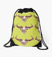 Mighty Bird drawn with feathers Drawstring Bag