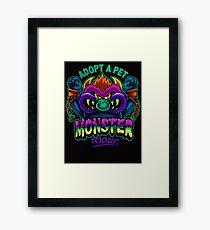 Adopt a Pet Monster Framed Print