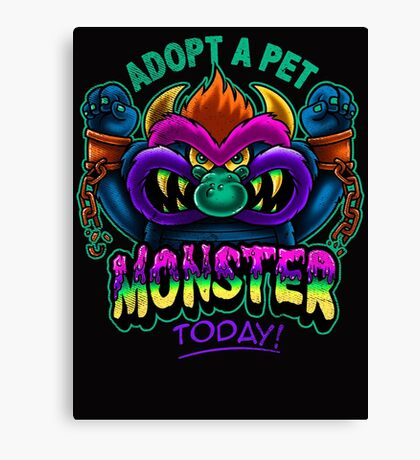 Adopt a Pet Monster Canvas Print