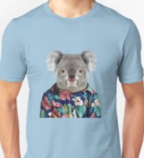 Cute Koala in a Hawaiian Shirt  Unisex T-Shirt