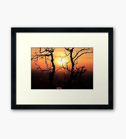 Sunset to Start My Journey Framed Print