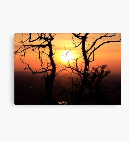 Sunset to Start My Journey Canvas Print