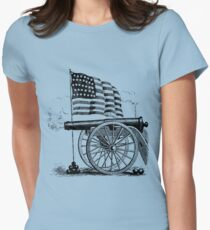 Cannon Flag Womens Fitted T-Shirt