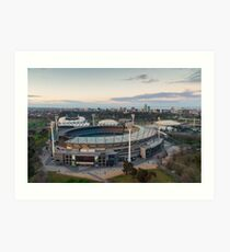 Melbourne Cricket Ground aerial view Art Print