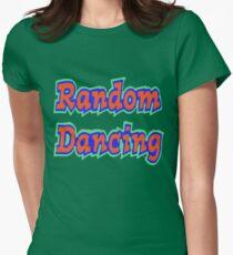 Random Dancing Womens Fitted T-Shirt