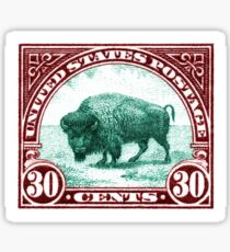 Antique 1923 U.S. American Buffalo Postage Stamp Sticker