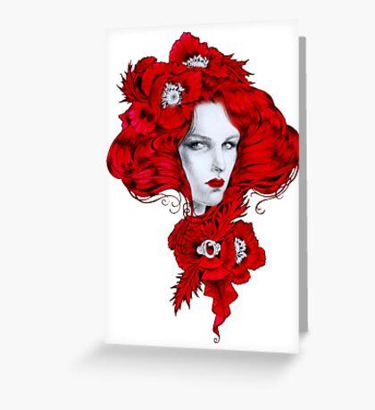 - Poppy fairy - Greeting Card