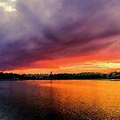 Colorful Sunset in Boston, Ma by LudaNayvelt