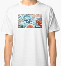 1965 French Polynesia Spearfishing Postage Stamp Classic T-Shirt