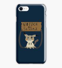 Mimikyu - Notice me senpai iPhone Case/Skin