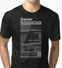 Gamer Nutritional Facts Tri-blend T-Shirt
