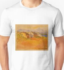 Cottages, Inis Mor, Isle of Aran. Watercolour.2010Ⓒ 32x24cm framed.  Unisex T-Shirt