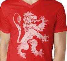 Heraldic Lion Mens V-Neck T-Shirt