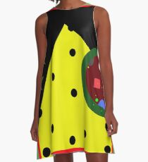 Optimistic abstraction A-Line Dress