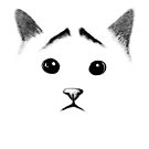 Cat with eyebrows by tummeow