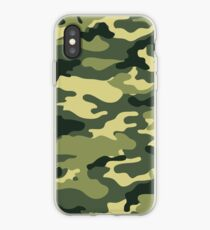 Olive Green Military Camouflage iPhone Case