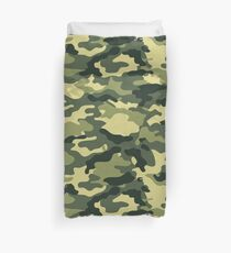 Olive Green Military Camouflage Duvet Cover