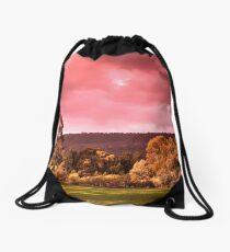 Pink sky Drawstring Bag
