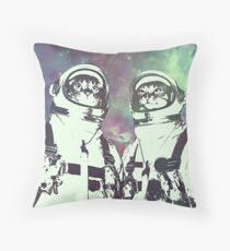 Space Age Catstronauts Throw Pillow