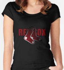 Red Sox Logo Women's Fitted Scoop T-Shirt