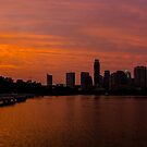 An Amazing Sunset from the Boardwalk in Austin, Texas by Roschetzky