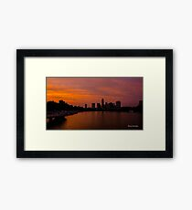 An Amazing Sunset from the Boardwalk in Austin, Texas Framed Print