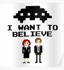 I Want To Believe 8bit Poster