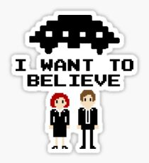 I Want To Believe 8bit Sticker