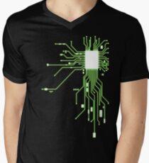 Circuitry Mens V-Neck T-Shirt
