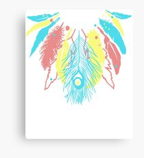 Cute Feather Necklace Graphic  Canvas Print
