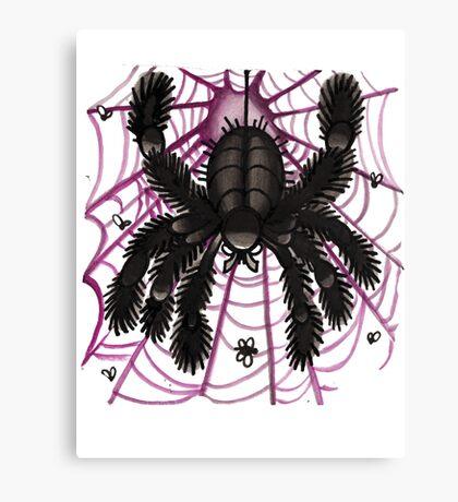 webby old school tattoo spider Canvas Print