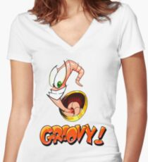 Groovy! Women's Fitted V-Neck T-Shirt