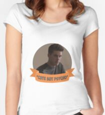 *Cute but Psycho* [Theo Raeken] Women's Fitted Scoop T-Shirt