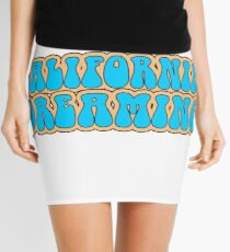 California Dreaming Song Lyrics Hippie 60s Peace Mini Skirt